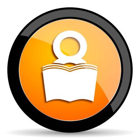bibliophile: book orange icon