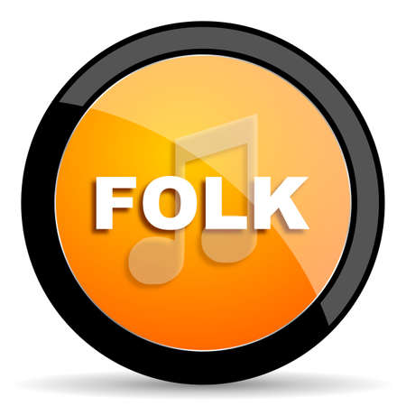 folk: folk music orange icon