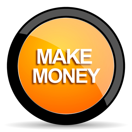 make money: make money orange icon