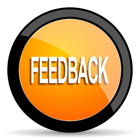 feedback: feedback orange icon