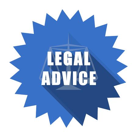 criminal act: legal advice blue flat icon