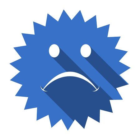 cry: cry blue flat icon Stock Photo