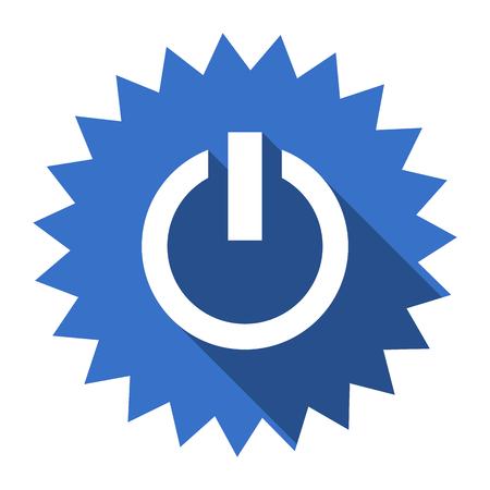 run off: power blue flat icon