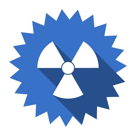radiacion: la radiación del icono azul plana