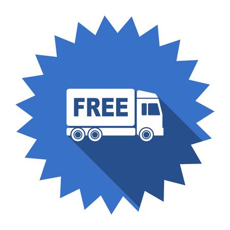 d�livrance: livraison gratuite ic�ne bleue plat