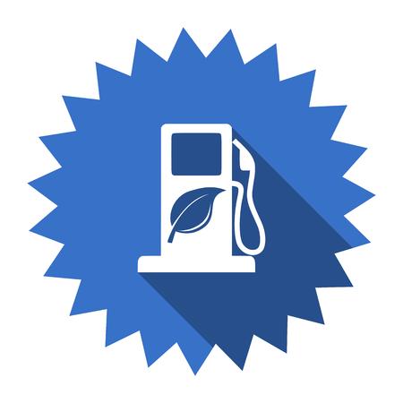 canola: biofuel blue flat icon Stock Photo