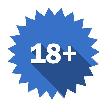 adults: adults blue flat icon