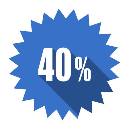 40: 40 percent blue flat icon