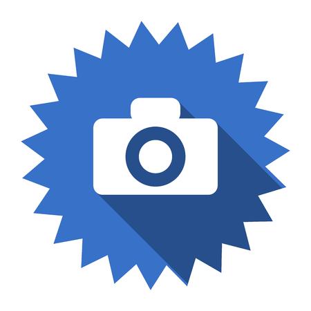 picto: camera blue flat icon