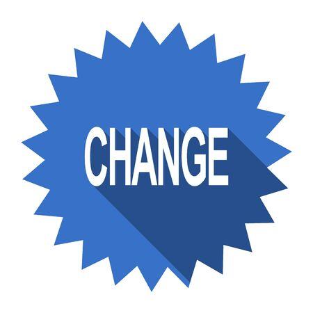 better icon: change blue flat icon Stock Photo