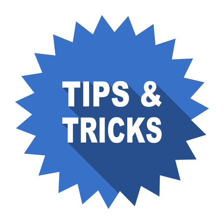 tricks: tips tricks blue flat icon