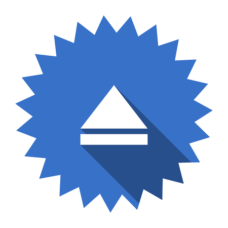 eject: eject blue flat icon