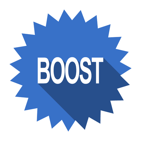 boost: boost blue flat icon