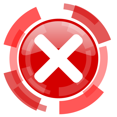 red button: cancel red glossy web icon