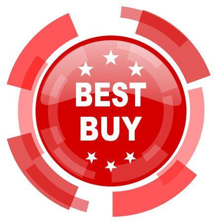 best buy: best buy red glossy web icon