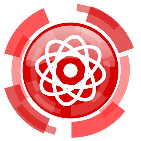 gamma radiation: atom red glossy web icon