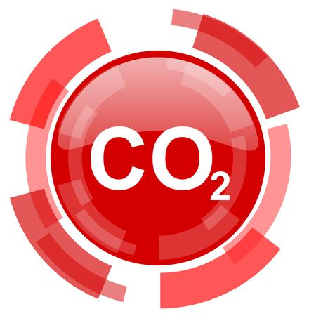 dioxido de carbono: di�xido de carbono icono rojo brillante Web