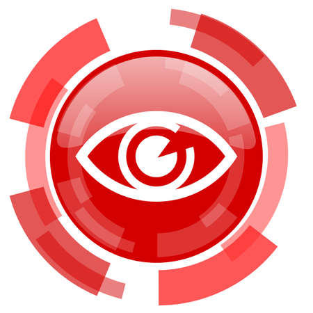 eye red: eye red glossy web icon