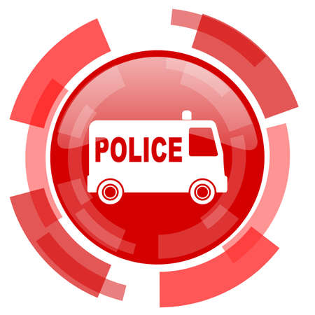 highway patrol: police red glossy web icon