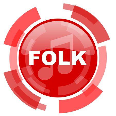 folk music: folk music red glossy web icon
