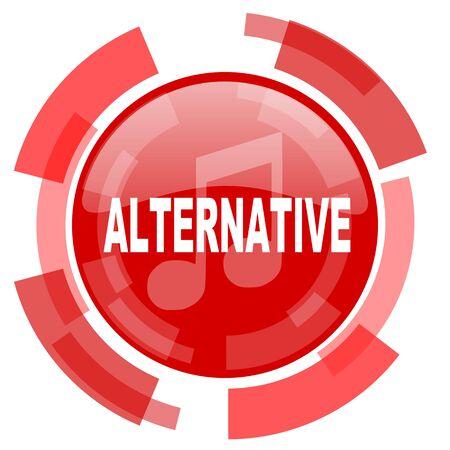 alternative: alternative music red glossy web icon Stock Photo