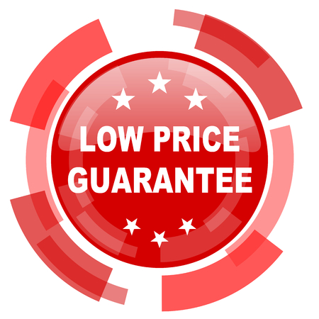 low price: low price guarantee red glossy web icon