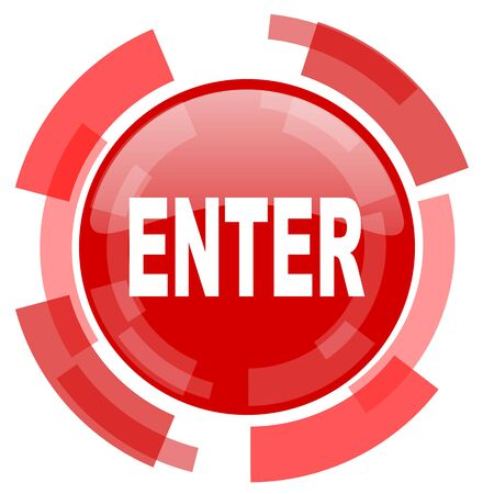 to enter: enter red glossy web icon