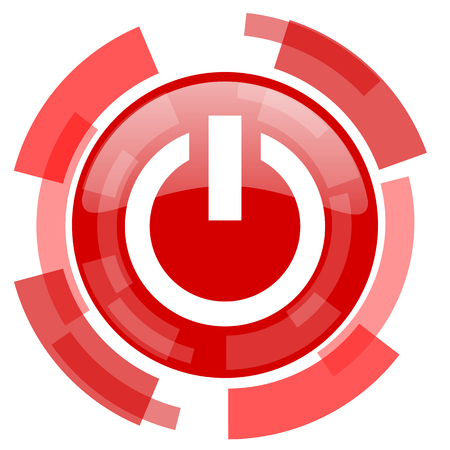 run off: power red glossy web icon