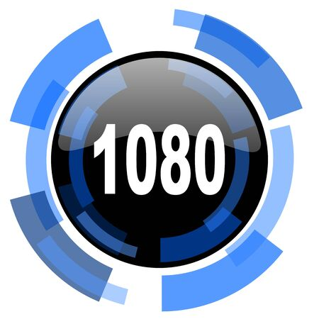 black and blue: 1080 black blue glossy web icon Stock Photo