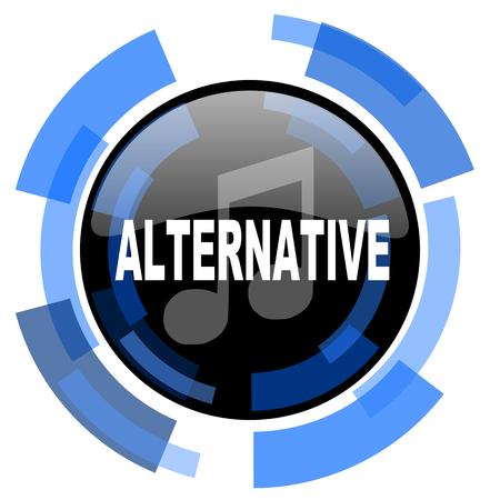 alternative: alternative music black blue glossy web icon