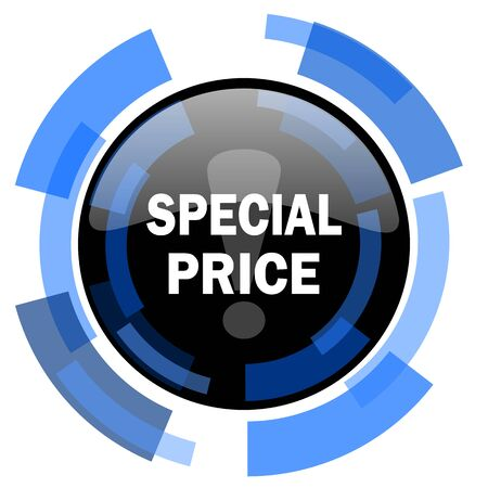 special price: special price black blue glossy web icon Stock Photo