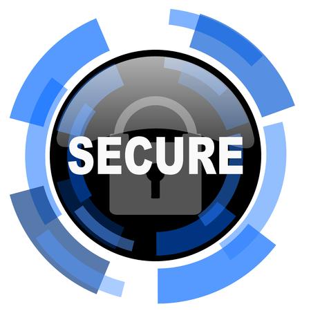 secret codes: secure black blue glossy web icon