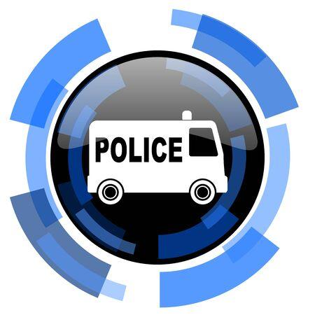 patrolman: police black blue glossy web icon