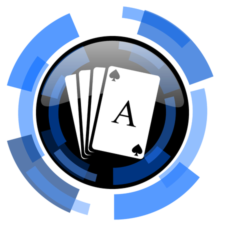 picto: card black blue glossy web icon