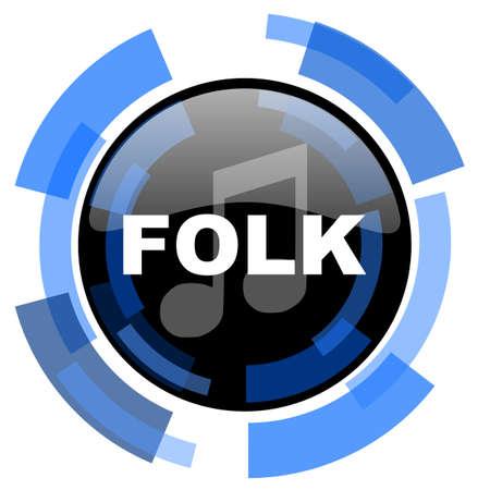 folk music: folk music black blue glossy web icon