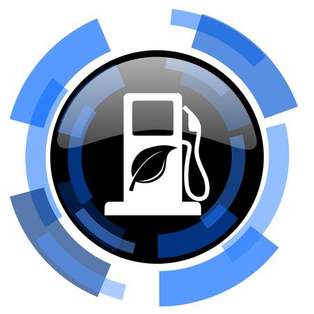 canola: biofuel black blue glossy web icon