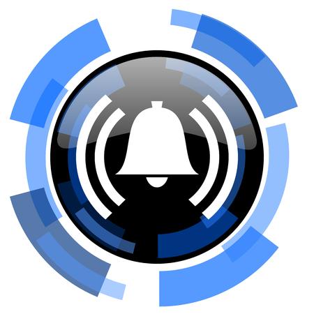 safe and sound: alarm black blue glossy web icon