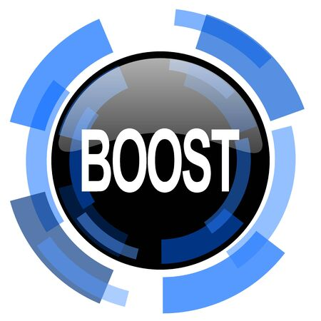 boost: boost black blue glossy web icon