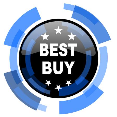 best buy: best buy black blue glossy web icon Stock Photo