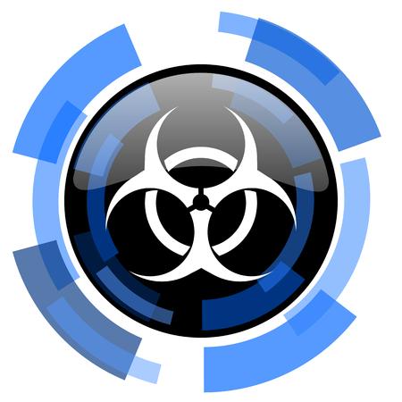varez: biohazard black blue glossy web icon Stock Photo