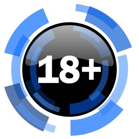 adults: adults black blue glossy web icon Stock Photo