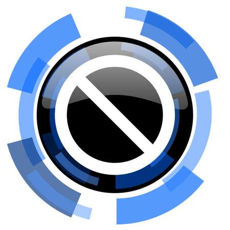 access denied: access denied black blue glossy web icon
