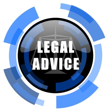 criminal act: legal advice black blue glossy web icon Stock Photo