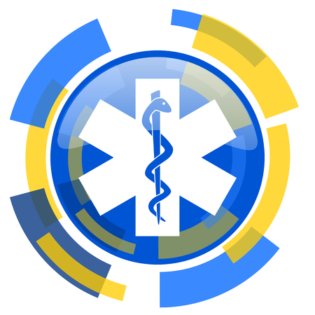 smarthone: emergency blue yellow glossy web icon