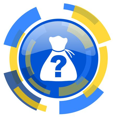 riddle: riddle blue yellow glossy web icon