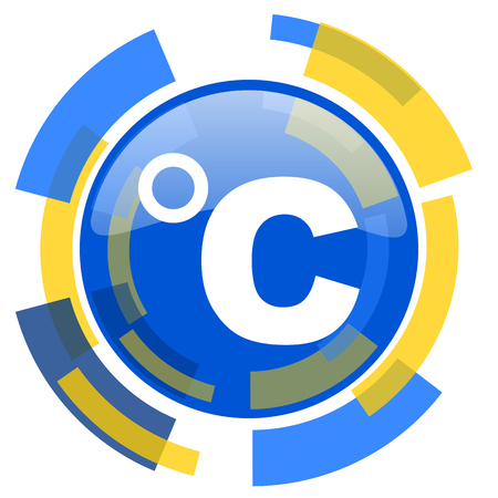 celcius: celsius blue yellow glossy web icon