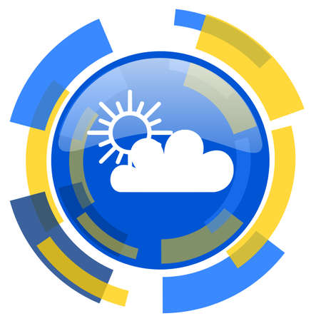 smarthone: cloud blue yellow glossy web icon