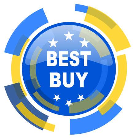 best buy: best buy blue yellow glossy web icon