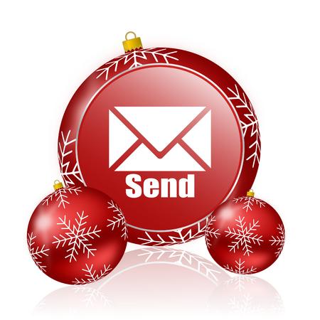 send: send christmas icon Stock Photo
