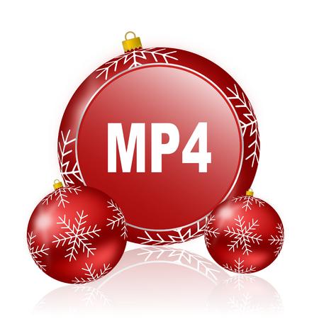 mp4: mp4 christmas icon Stock Photo